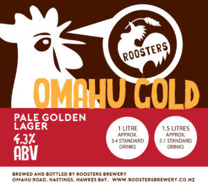 Roosters - Omahu gold label